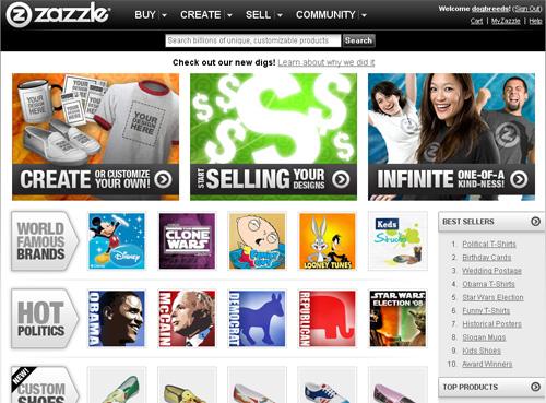الربح من موقع Zazzle