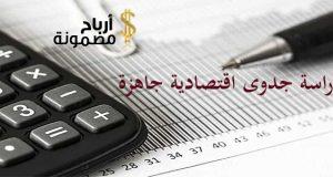 دراسة جدوى اقتصادية جاهزة